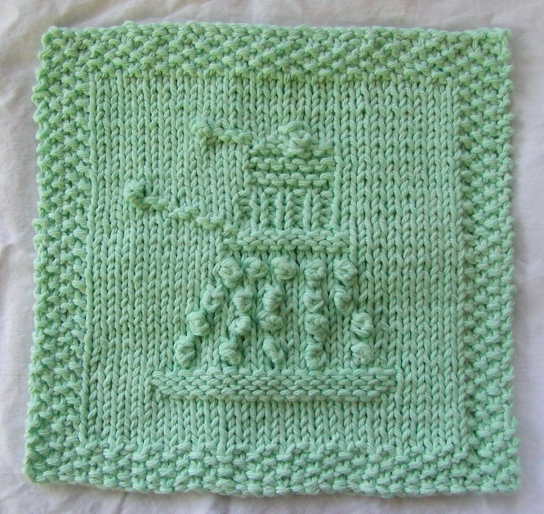 Exfoliate Exfoliate Knitted Dalek Wash Cloth